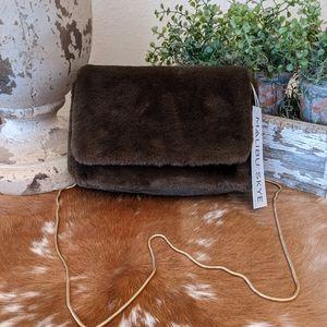 Malibu Skye Soft Faux Fur Crossbody Chain Strap